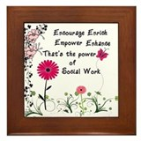 Power of Social Work Framed Tile