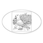 Show Racer Outline Oval Sticker (10 pk)