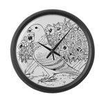 Show Racer Outline Large Wall Clock