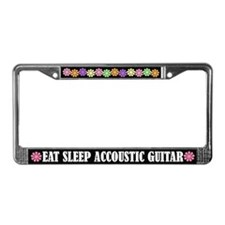 Eat Sleep Accoustic Guitar License Frame
