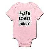 Anita loves daddy Infant Bodysuit