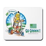 Cute Keep the planet green Mousepad