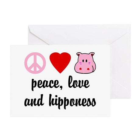 Peace Love and Hipponess Greeting Card