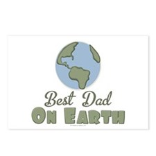 Best Dad On Earth Postcards (Package of 8)