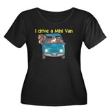 Drive Mini Van Women's Plus Size Scoop Neck Dark T