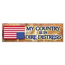 Dire Distress Bumper Bumper Sticker