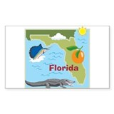 Florida Map Rectangle Decal