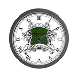 Henderson Tartan Shield Wall Clock