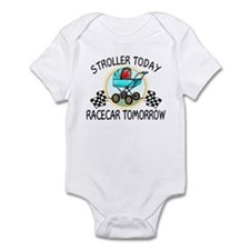 Stroller Today, Racecar Tomor Onesie