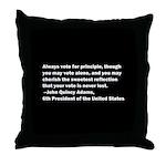 John Quincy Adams Quote Throw Pillow