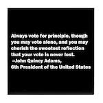 John Quincy Adams Quote Tile Coaster