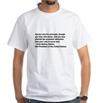 John Quincy Adams Quote White T-Shirt