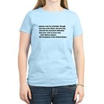 John Quincy Adams Quote Women's Light T-Shirt