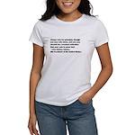 John Quincy Adams Quote Women's T-Shirt
