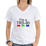 I'm a TRS-80 Women's V-Neck T-Shirt