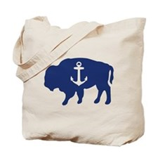 Nautical Buffalo Tote Bag