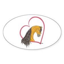 Buckskin Heartline Oval Decal