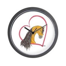 Buckskin Heartline Wall Clock
