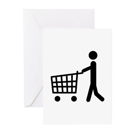 shopping cart icon Greeting Cards (Pk of 10)