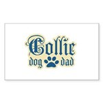 Collie Dad Sticker (Rectangle 10 pk)