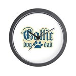Collie Dad Wall Clock