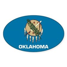 Oklahoma State Flag Oval Sticker (10 pk)