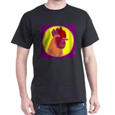 Rooster Black T-Shirt
