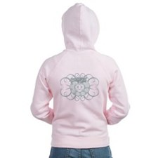 Tribal Dragon Design Zip Hoodie