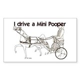 I Drive A Mini Pooper Rectangle Decal