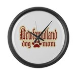 Newfoundland Mom Large Wall Clock