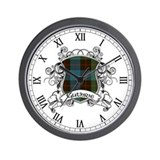 Guthrie Tartan Shield Wall Clock