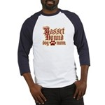 Basset Hound Mom Baseball Jersey
