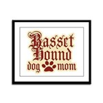 Basset Hound Mom Framed Panel Print