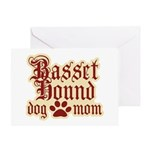 Basset Hound Mom Greeting Card