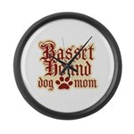 Basset Hound Mom Large Wall Clock