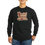 Basset Hound Mom Long Sleeve Dark T-Shirt