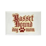 Basset Hound Mom Rectangle Magnet (100 pack)