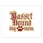 Basset Hound Mom Small Poster