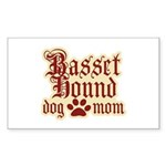 Basset Hound Mom Sticker (Rectangle)