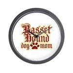 Basset Hound Mom Wall Clock
