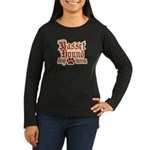 Basset Hound Mom Women's Long Sleeve Dark T-Shirt