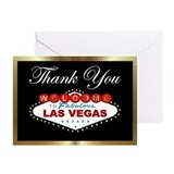 Las Vegas Thank You Black/Gold Cards (Pk of 10)