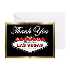 Las Vegas Thank You Black/Gold Cards (Pk of 10)
