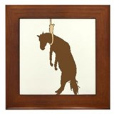 Hung like a horse Framed Tile