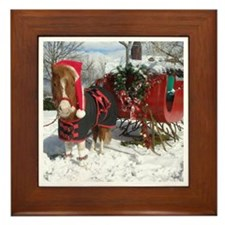 Santa Mini Sleigh Framed Tile