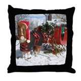 Santa Mini Sleigh Throw Pillow