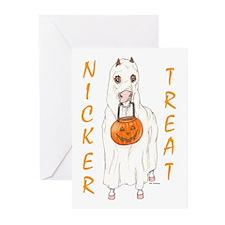 Nicker Treat Orange Greeting Cards (Pk of 10)