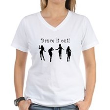 Dance It Out! Women's V-Neck T-Shirt