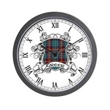 Greer Tartan Shield Wall Clock