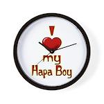 I heart my Hapa Boy Wall Clock